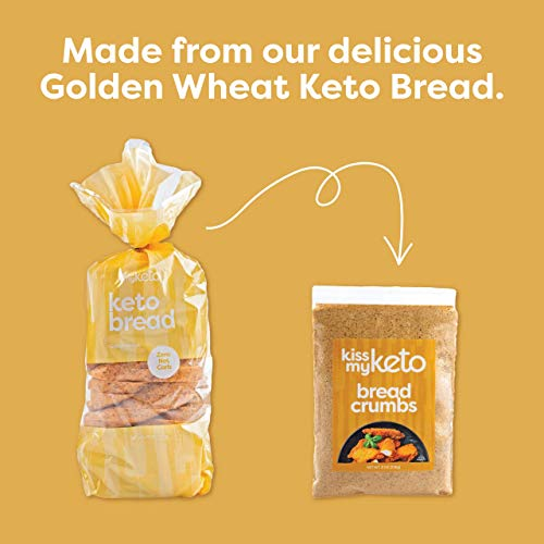 Kiss My Keto Bread Crumbs Zero Carb (0g Net) — Low Carb Keto Breadcrumbs | 6g Protein in line with Serving, Sugar Free | Low Calorie, Non-GMO & Soy Free — Golden Wheat, Plain (8 Ounce, Pack of one)