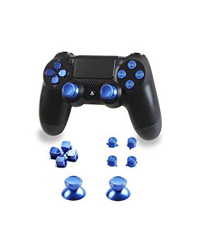 AMLLC Blue Aluminum Replacement Bullet Buttons, D-Pad, Thumb Sticks ()