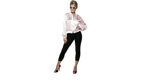 NET TOYS Chaqueta Rosa de Grease para Mujer Disfraz Mujer Ropa ...
