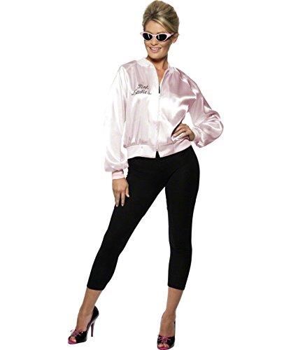 best service 2431d b8b05 NET TOYS Pink Ladies Giacca Grease Costume Lady Giubbino da ...