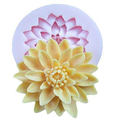 wyfc un agujero flores resina de las herramientas para la artesanía moldes para hornear profunda flor