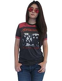 Women's Metallica Concert World Tour Ringer T-Shirt Jersey Thin Soft
