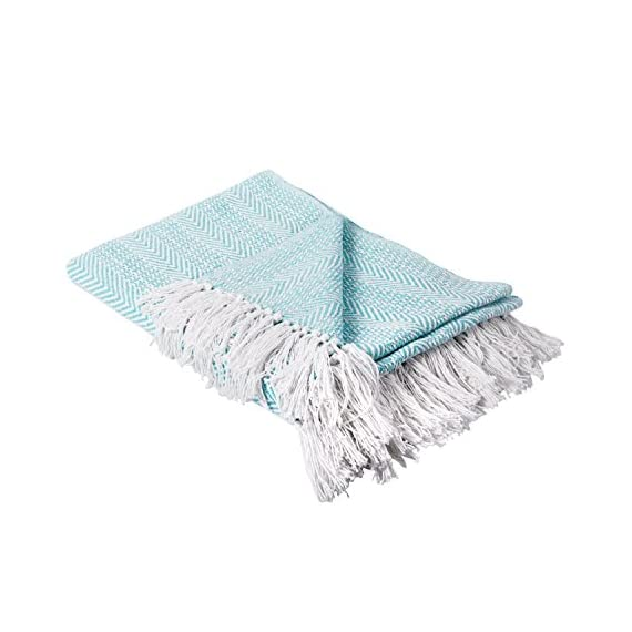 DII Rustic Farmhouse Cotton Stripe Blanket Throw with Fringe for Chair, Couch, Picnic, Camping, Beach, Everyday Use -  - blankets-throws, bedroom-sheets-comforters, bedroom - 41Ij2XZa47L. SS570  -