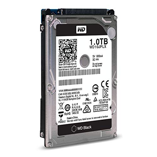 WD Black 1TB Performance Mobile Hard Disk Drive - 7200 RPM SATA 6 Gb/s 32MB Cache 9.5 MM 2.5 Inch - WD10JPLX by Western Digital (Image #2)