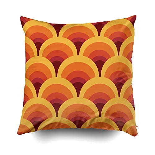 Musesh Christmas Geometric Vintage Cushions Case Throw Pillow Cover for Sofa Home Decorative Pillowslip Gift Ideas Household Pillowcase Zippered Pillow Covers 20X20Inch