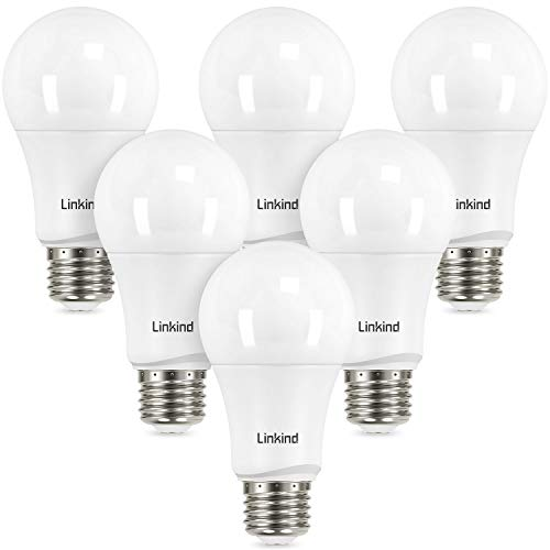 Linkind Dimmable A19 LED Light Bulbs, 75W Equivalent, E26 Base, 5000K Daylight, 13W 1150 Lumens 120V, UL Listed FCC…