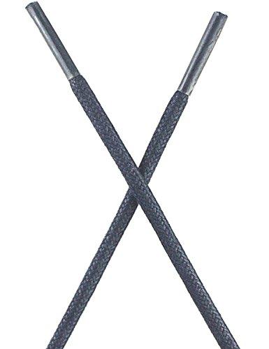 Mshega Premium Lacets De Chaussures Cirés Pour Chaussures De Tennis 2 Paire 09 Bleu Foncé
