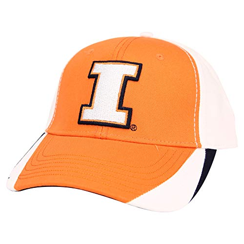 (Captivating Headgear NCAA Adult Baseball Cap Adjustable Hat (Illinois Fighting Illini (Tri-Color)))