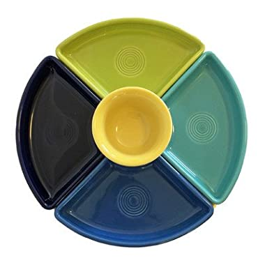 Fiesta Divided Serving Dish in Cool Colors