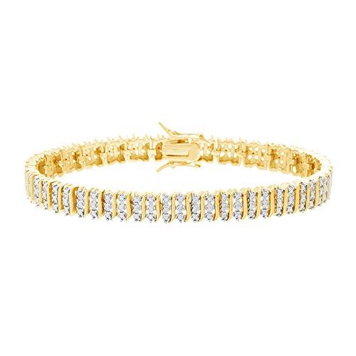 Lumineux Diamond Womens 18K Yellow Gold Plated Brass
