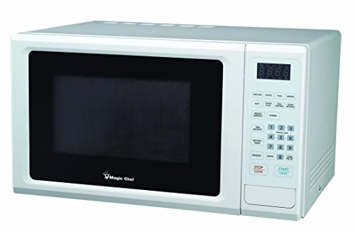(Magic Chef Cu. Ft Countertop Oven with Push-Button Door MCM1110W 1.1 cu.ft. 1000W Microwave, White)