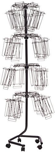 Safco Products 4128CH Wire Brochure Display Rack, Charcoal