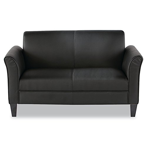 (Alera ALERL22LS10B Reception Lounge Furniture, Loveseat, 55-1/2w x 31-1/2d x 32h, Black )