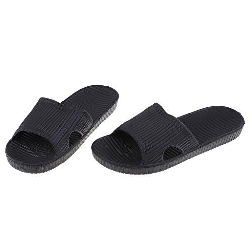 para Zapatillas Chanclas Antideslizante Casa Exterior Negro Pantuflas de y Casual Interior Baoblaze de Baño tzxAA6