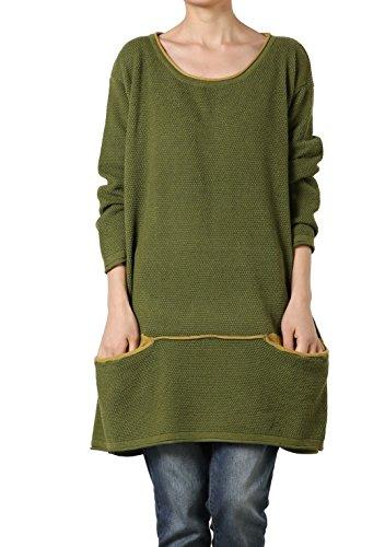 Vert Vogstyle Knitting Femme Dress Sweater 4AwqIwZX