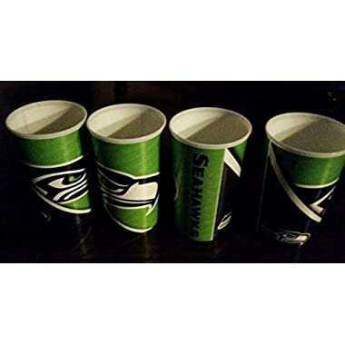Seattle Seahawks NFL Four Pack 22-Ounce Plastic Cups New