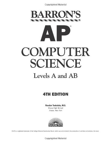 Barron's AP Computer Science, Levels A and AB