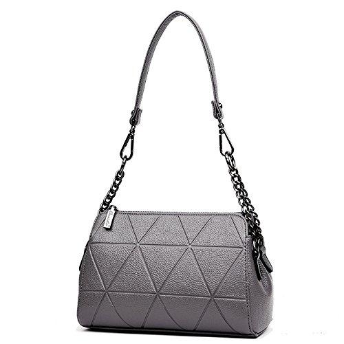 Messenger bag shoulder bag chain bag dark gray