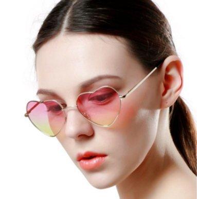 Retro Gafas con de Corazón Metal LK Unisex Sol de Unidad 1 Forma de 8871 S5fXwP