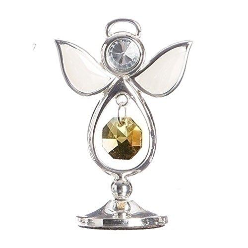 November Honey Caramel Colored Jewel Bead 3 Inch Birthstone Angel Figurine