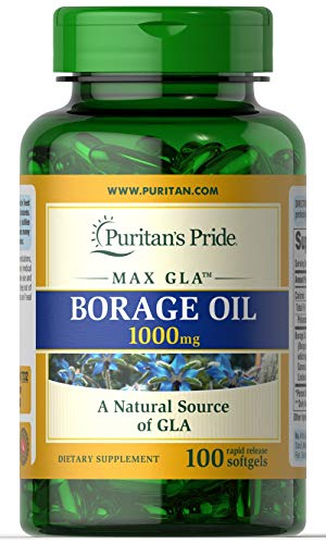Puritans Pride Borage Oil, 1 Gram (Borage Seed Oil Capsule)