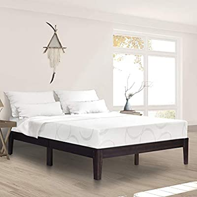 Ecos Living 14 Inch Solid Wood Platform Bed with Natural Finish by Ecos Living