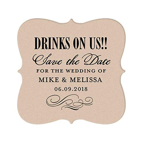(Party & Bar Coasters, Event Coaster, Save the Date Custom Party Decorations, Personalized Gift)