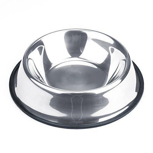 Tip Bowl (Weebo Pets Stainless Steel No-Tip Food Bowls - Choose Your Size, 4-ounce to 72-ounce (24oz. Bruiser))