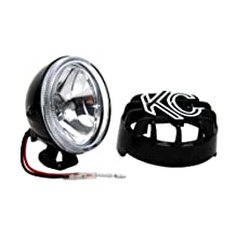 KC HiLiTES 1490 Rally 400 4-Inch, 55W Single Driving Light with ABS Stone Guard