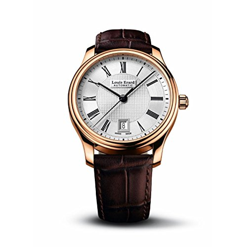 Louis Erard Men's Heritage 40mm Brown Leather Band Rose Gold Plated Case Automatic Watch 69257PR21.BRC03