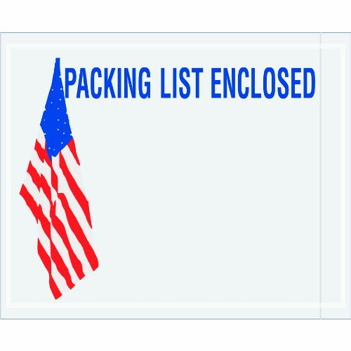 Usa Packing Flag (Aviditi PLUSA12 Poly Pressure Sensitive Envelope, Legend