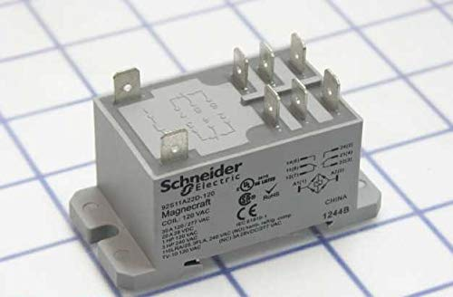 Schneider Electric/Legacy Relay 92S11A22D-120 Power Relay, Dpdt, 120VAC, 30A, Din Rail