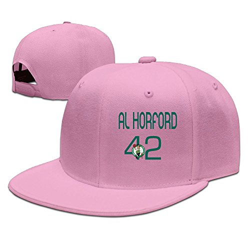 [Z-Jane Al #42 Horford Sunbonnet Baseball Hat Hip Hop Hat Adjustable Snapback Flat Bill Pink] (Oklahoma Mens Rookie Watch)