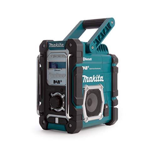 Makita DMR112 Accu-Bouwplaatsradio 7,2V – 18V Met DAB+ En Bluetooth, Zonder Accu en Oplader, Turkoois