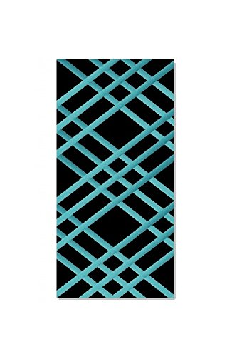 "Bulletin-Memo Board and Picture Frame: Black and Teal (Slim (9"" x 24""))"