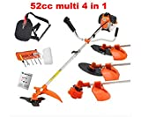 CHIKURA Multi powerful 52cc gasoline brush cutter 4 in 1 grass trimmer strimmer