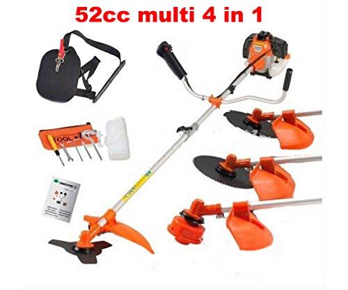 (CHIKURA Multi powerful 52cc gasoline brush cutter 4 in 1 grass trimmer strimmer cutter garden tool)