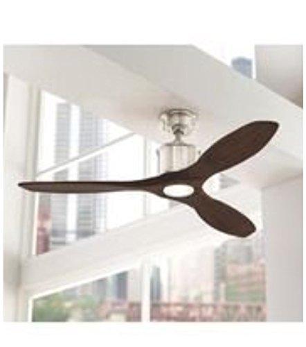 Home Decorators Modern Floor Lamp - Reagan II 52 in. Brushed Nickel LED Ceiling Fan
