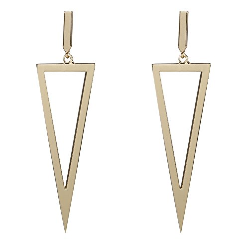 Triangle Shape Drop Dangle Earrings Metal Geometric For Women Bar Party Jewelry-Gold