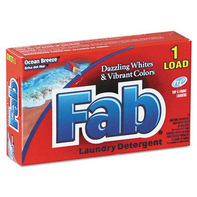 Fab 035690 Dispenser-Design HE Laundry Detergent Powder, Ocean Breeze, 1oz Box (Case of 156)