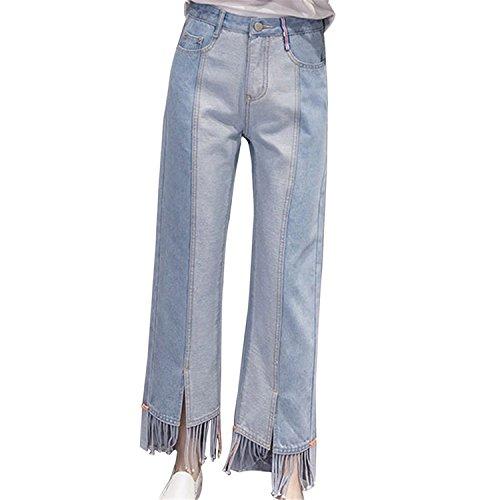 Auspiciousi Mujeres empalman los Pantalones hinchados Lavados Casuales los Pantalones Lb