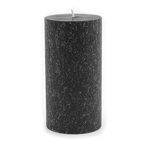 Root Candles Unscented Timberline Pillar Candle , 3 x 6-Inches, Black