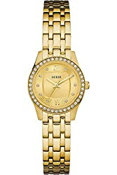 GUESS W0762L2,Ladies Dress,Stainless Steel,Gold-Tone,Crystal Accented Bezel,50m WR