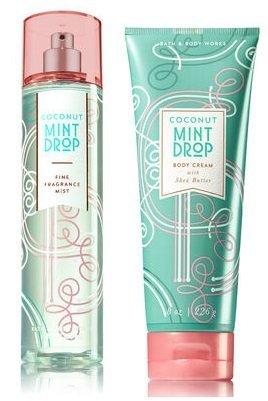 Mint Drop - Bath and Body Works Coconut Mint Drop Fine Fragrance Mist & Ultra Shea Body Cream 8 Oz.