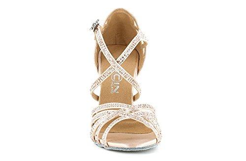 """Scarpa da ballo Limited Edition """"Veronica Arrais"""" in raso rosa cipria, tacco 10 cm"""