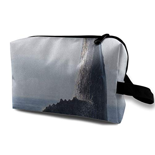Makeup Bag Humpback Whale Ocean Sea Water Portable Travel Multifunction Clutch Pouch Bags Fantastic Case For Girls