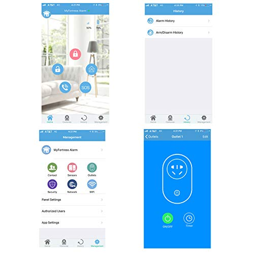 Works with Alexa -App Controlled Updated S03 WiFi and Landline Security Alarm System Starter Kit Wireless DIY Home Security System by Fortress Security Store- Easy to Install by Fortress Security Store (Image #2)