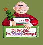 Funny Senior Moment Bald Man Christmas Ornament