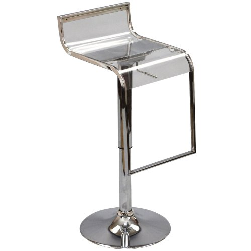 Funky Transparent Stainless Bar Stool by America Luxury - Chairs