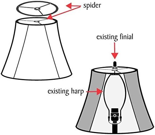 Spider Aspen Creative 32286 Hardback Shaped Shade in Off-White